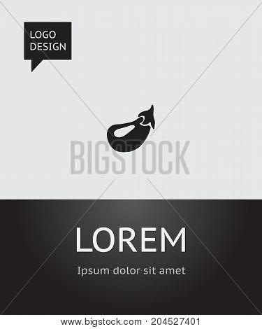 Vector Illustration Of Berry Symbol On Eggplant Icon