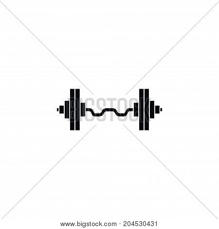 Weightlifting Vector Element Can Be Used For Dumbbell, Weightlifting, Weight Design Concept.  Isolated Dumbbell Icon.