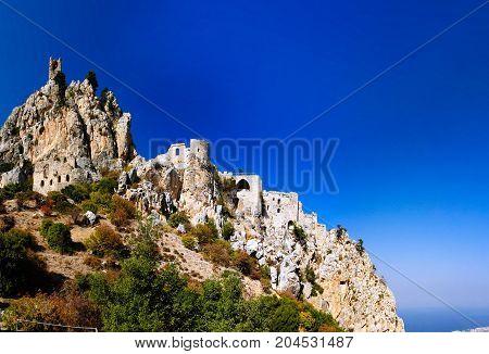 Exterior of Saint Hilarion Castle at Kirenia Northen Cyprus