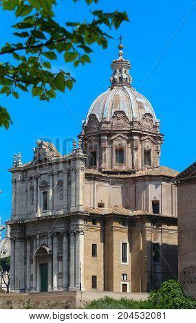 Italy. Rome. The famous church of Santa Maria di Loreto