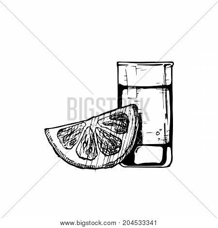 Illustration Of Shot Glass
