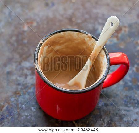 Hot Chocolate Mug on the grounge background
