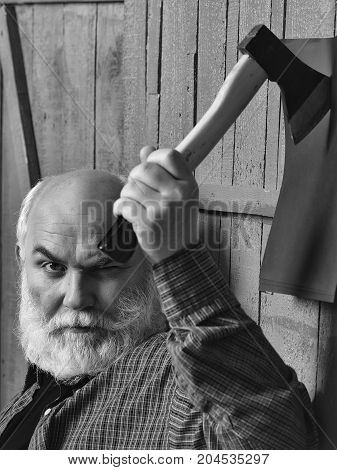 Man With Axe And Paper