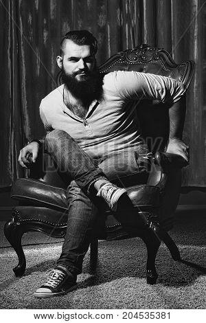 Stylish Man On Chair