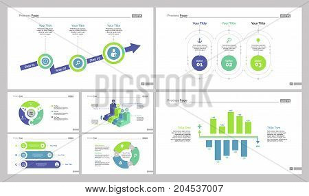 Infographic design set can be used for workflow layout, diagram, annual report, web design. Business and marketing concept with options, percentage, process, flow and bar charts