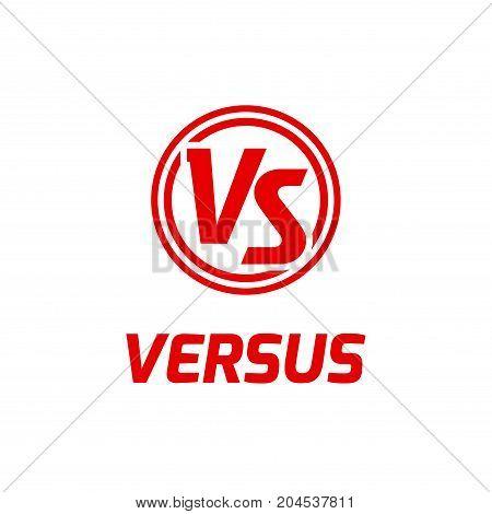 Versus letters logo. Flat competition concept design emblem. Versus icon.