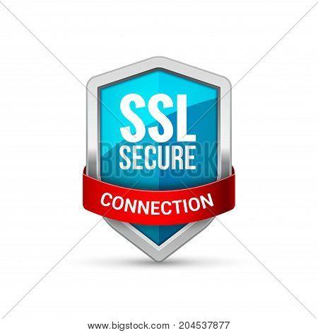 SSL Protection shield guard icon. Security ssl protect sign symbol.