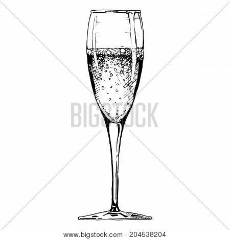 Illustration Of Champagne Glass