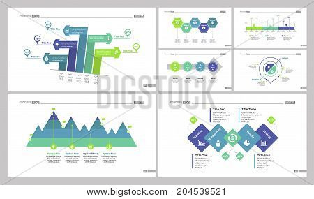 Infographic design set can be used for workflow layout, diagram, annual report, web design. Business and marketing concept with timeline, workflow, percentage and area chart