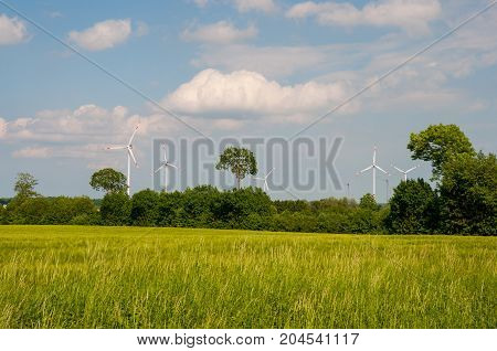 Windmills In The German Countryside