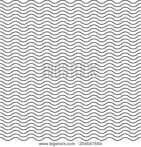 Wave pattern. Seamless wavy line pattern. Vector illustration.