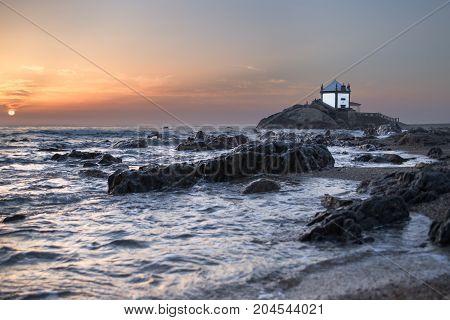 A little chapel by the sea shore called Senhor da Pedra