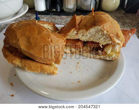 Delicious Pork Chop Bun