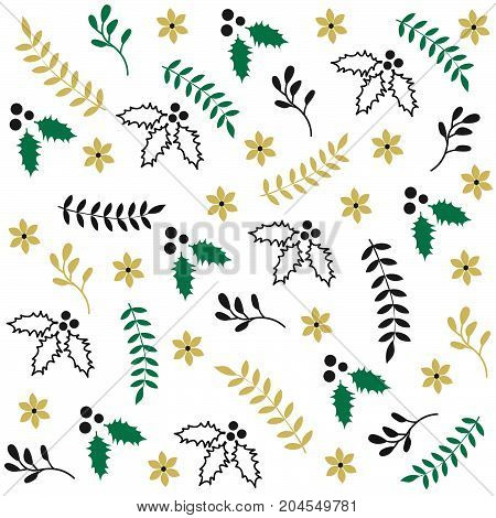 Winter seamless Christmas pattern and vector illustration