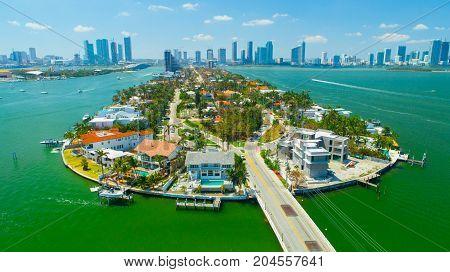 Venetian Islands, Miami Beach, South Beach, Florida, USA.