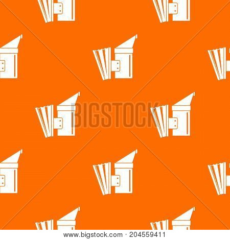 Fumigation pattern repeat seamless in orange color for any design. Vector geometric illustration