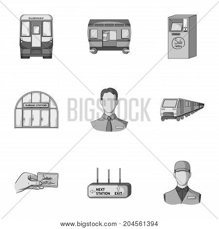 Movement, electric transport and other  icon in monochrome style. Public, transportation, means icons in set collection.