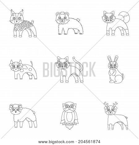 Farm, zoo, ecology and other  icon in outline style.Marsupial, Australia, nature icons in set collection.