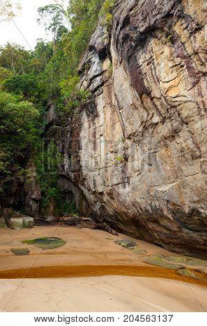 Sandstone at Bako national park Borneo Malaysia