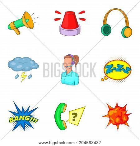 Annoying icons set. Cartoon set of 9 annoying vector icons for web isolated on white background