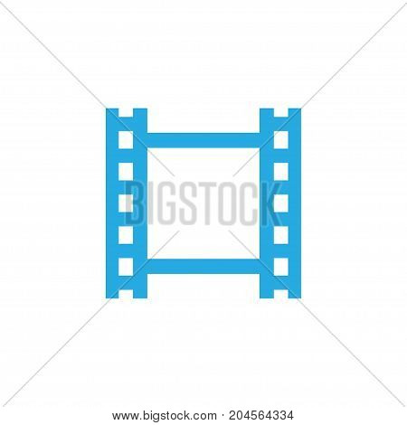 Premium Quality Isolated Film Element In Trendy Style.  Video Colorful Icon Symbol.