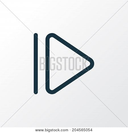 Premium Quality Isolated Slow Forward Element In Trendy Style.  Upward Outline Symbol.