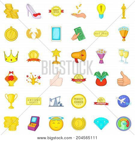 Choice icons set. Cartoon style of 36 choice vector icons for web isolated on white background