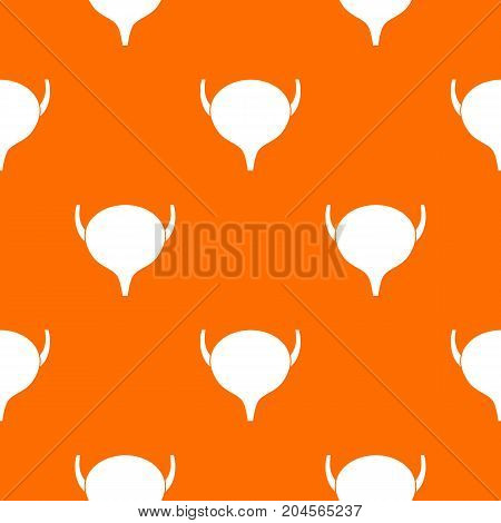 Bladder pattern repeat seamless in orange color for any design. Vector geometric illustration