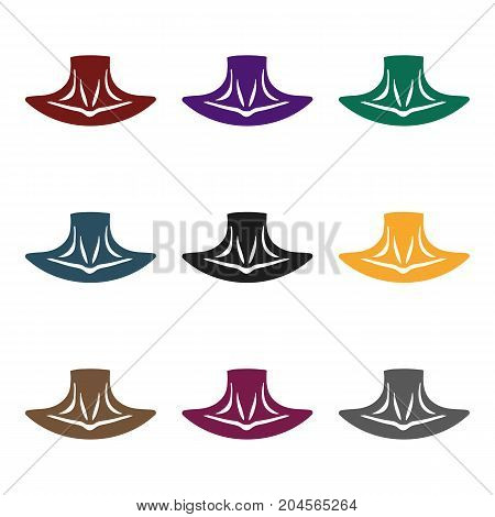 Neck icon in black style isolated on white background. Part of body symbol vector illustration.