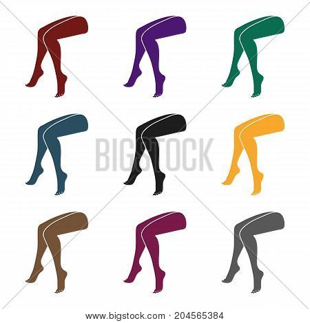 Legs icon in black style isolated on white background. Part of body symbol vector illustration.