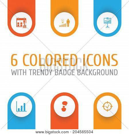 Board Icons Set. Collection Of Presentation Date, Decision Making, Bar Chart And Other Elements