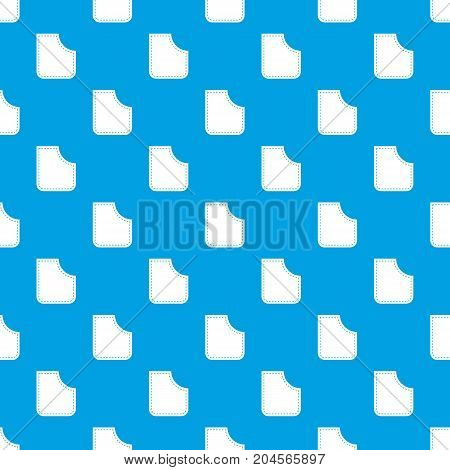 Abstract pocket pattern repeat seamless in blue color for any design. Vector geometric illustration