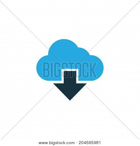 Premium Quality Isolated Cloud Element In Trendy Style.  Storage Colorful Icon Symbol.