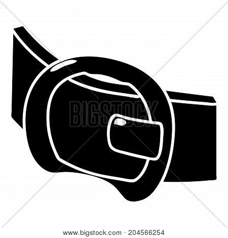 Modern belt icon. Simple illustration of modern belt vector icon for web design isolated on white background