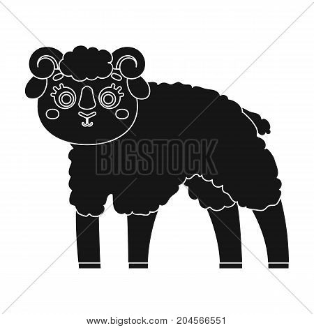 Sheep single icon in black style.Sheep, vector symbol stock illustration .