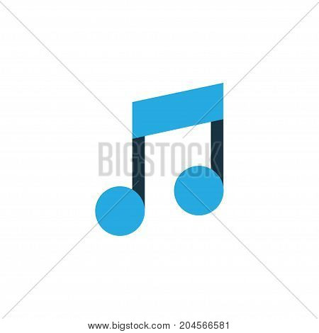 Premium Quality Isolated Musical Note Element In Trendy Style.  Music Colorful Icon Symbol.