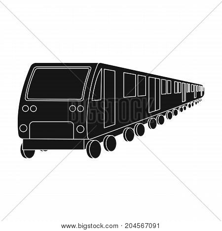 Train, single icon in black style.Train, vector symbol stock illustration .