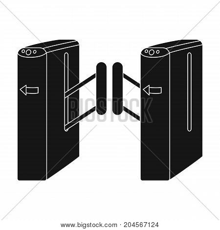 Turnstile, single icon in black style.Turnstile vector symbol stock illustration .