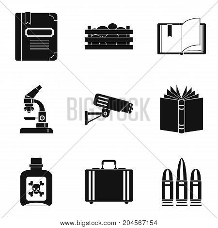Accumulated knowledge icons set. Simple set of 9 accumulated knowledge vector icons for web isolated on white background