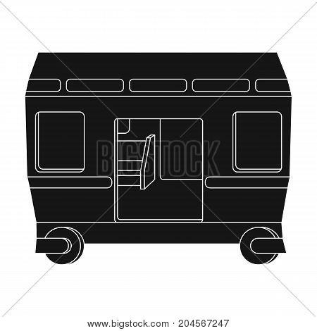Wagon, single icon in black style.Wagon vector symbol stock illustration .
