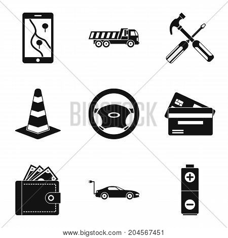 Belay icons set. Simple set of 9 belay vector icons for web isolated on white background