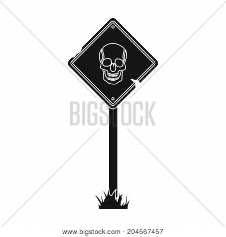 Sign, single icon in black style.Sign, vector symbol stock illustration .