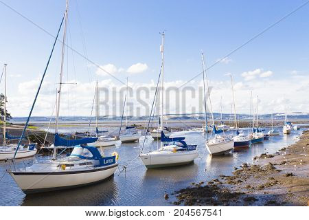 Cramond august 2014 : Cramond port Edimburgh is known because from this small port depart regattas and long distance races especially in august. Cramond is a village and suburb in the north-west of Edinburgh Scotland at the mouth of the River Almond