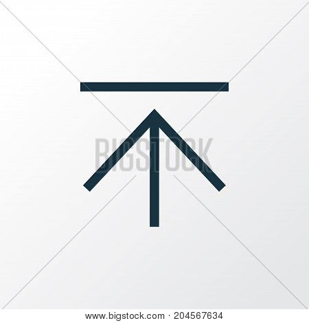 Premium Quality Isolated Upload Element In Trendy Style.  Download Outline Symbol.