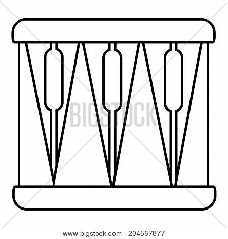 Bass drum icon. Outline illustration of bass drum vector icon for web design isolated on white background