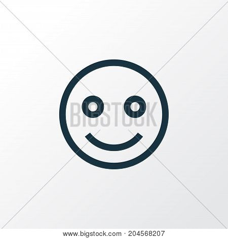 Premium Quality Isolated Smile Element In Trendy Style.  Emoji Outline Symbol.