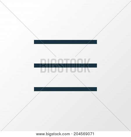 Premium Quality Isolated List Element In Trendy Style.  Schedule Outline Symbol.