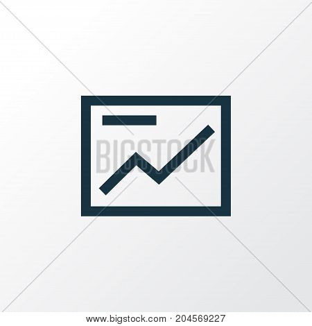 Premium Quality Isolated Chart Element In Trendy Style.  Presentation Outline Symbol.