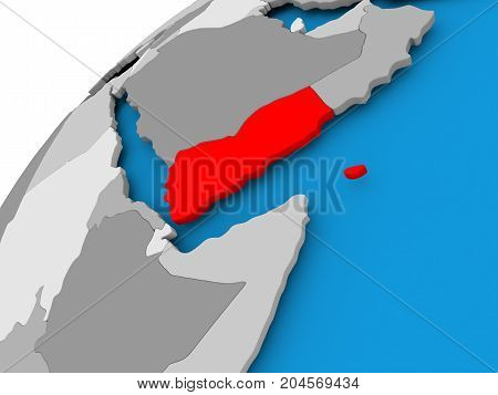 Map Of Yemen In Red