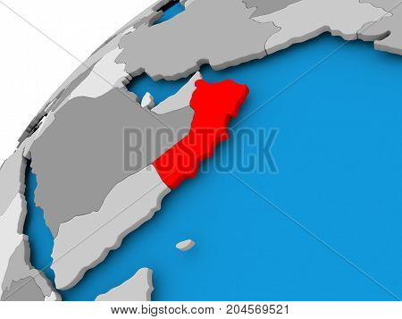 Map Of Oman In Red